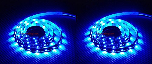HobbyFlip 2 x Quantity of Helicopter Quadcopter Airplane Boat Car Controller Turnigy High Density R/C LED Flexible Strip - BLUE (1 meter) Night Flying by HobbyFlip