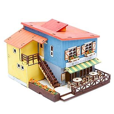 Desktop Wooden Model Kit Cafe in House by Young Modeler: Toys & Games