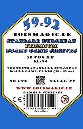 docsmagic.de Anachrony Premium Sleeves Bundle - 59 x 92 Euro-Standard & 44 x 68 Euro-Mini & 70 x 120 Tarot - 200 Sleeves: Amazon.es: Juguetes y juegos