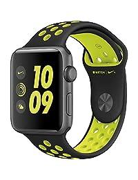 apple MP082LL/A Watch Series 2 Nike Plus 38mm Space Gray Aluminum Case Black/Volt Sport Band