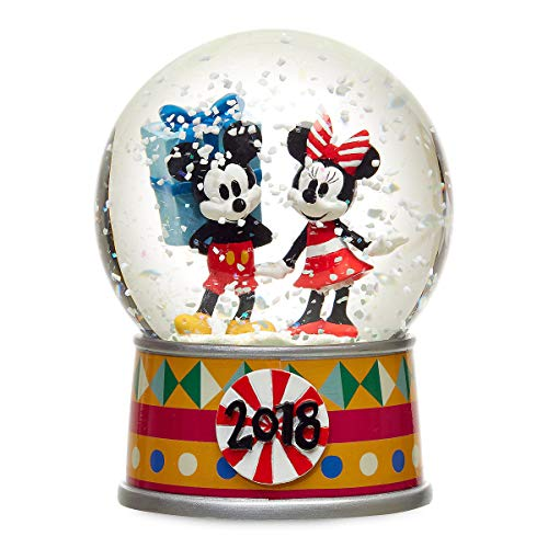 Disney Mickey Mouse and Minnie Mouse Holiday Snowglobe 2018