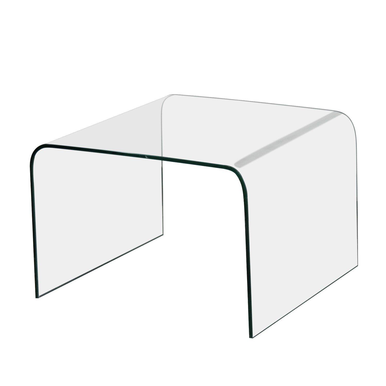 Bhp Beistelltisch Thorben Klarglas Couchtisch Glastisch 60x60cm Höhe