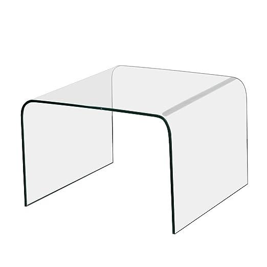 Mesa Auxiliar Mesa de Cristal Mesa 60 x 60 cm: Amazon.es: Hogar