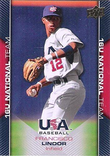 Upper Deck Usa Rookie Baseball - 2009 Upper Deck 16U National Team USA - Francisco Lindor Baseball Rookie Card #USA-55
