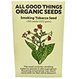 Smoking Tobacco Seeds (~350) by All Good Things Organic Seeds: Certified Organic, Non-GMO, Heirloom, Open Pollinated Seeds from the United States