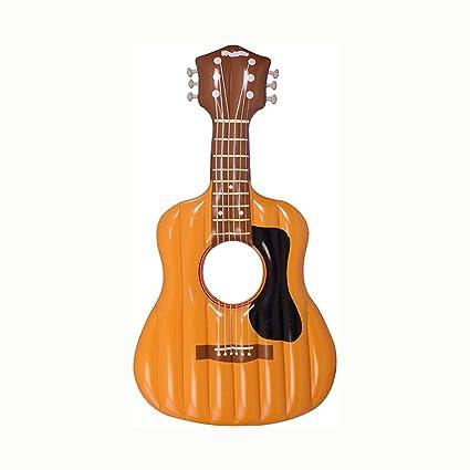 CBWZDJZDS Entretenimiento PVC Guitarra Inflable Drenaje Flotante ...