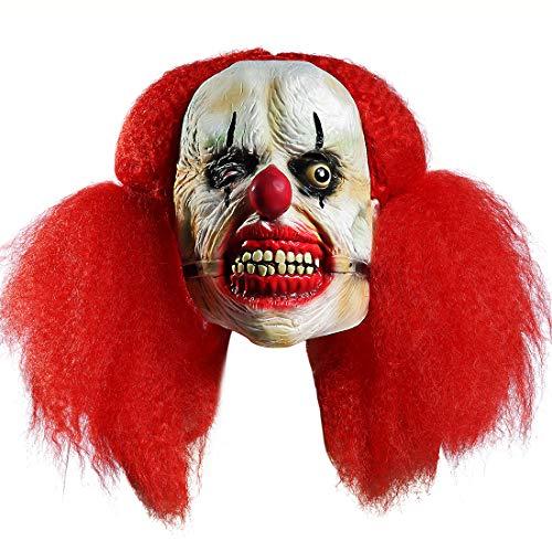 Halloween Funny Clown Masquerade Ball Up Props (Stephen King It Clown Mask) -