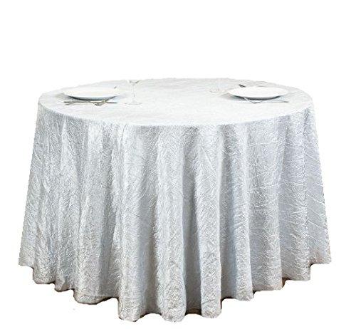 (LinenTablecloth Round Crinkle Taffeta Tablecloth, 106