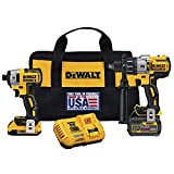 Dewalt DCK299D1T1R 20V MAX FlexVolt Cordless Lithium-Ion Hammer Drill and Impact Driver Combo Kit with 2 Batteries (Certified Refurbished)