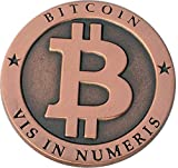 Bitcoin Miner Coin Antique Copper Commemorative Collectors Coin by CoinedBits® | Limited Edition with Plastic Round Display Case