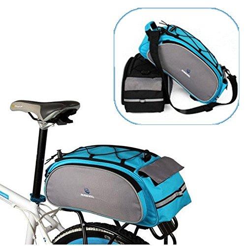Multi Bike Bicycle Rear Seat Tail Bag Pannier Handbag Double Sides ( Blue ) by Freelance Shop SportingGoods (Image #5)