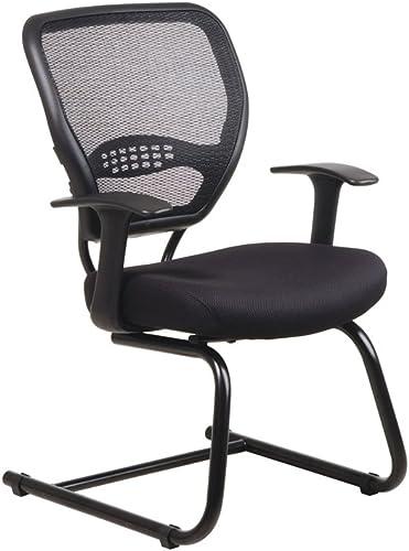 Office Star Air Grid Back Guest Chair Black Mesh
