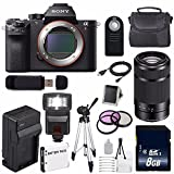 Sony Alpha a7R II Mirrorless Digital Camera (International Model no Warranty) + Sony E 55-210mm f/4.5-6.3 OSS E-Mount Lens (Black) + 49mm 3 Piece Filter Kit 6AVE Bundle 120