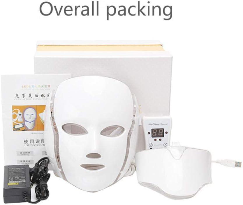 SPA 7 Color Led Máscara De Belleza Terapia De Fotones Masaje Facial Antiarrugas Blanqueamiento Cuidado De La Piel Máquina De Belleza Portátil-Yo: Amazon.es: Hogar