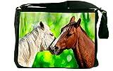 Rikki Knight Horses in Love Messenger Bag School Bag