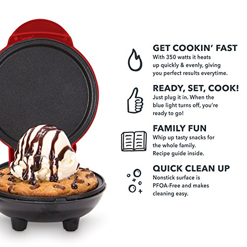 Dash DMS001RD Mini Maker - Griddle, Red by Dash (Image #3)