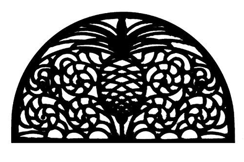 Door Mats - Williamsburg Demilune Rubber Doormat - 18