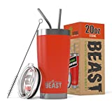 Best Tumbler With Straws - BEAST 20 oz Red Tumbler Stainless Steel Review