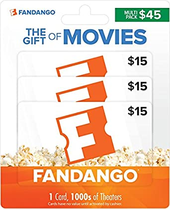 Amazon.com: Fandango Gift Cards, Multipack of 3 - $15: Gift Cards