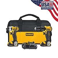 DEWALT 20V MAX Impact Driver and Drill Combo Kit DCK280C2 Deals