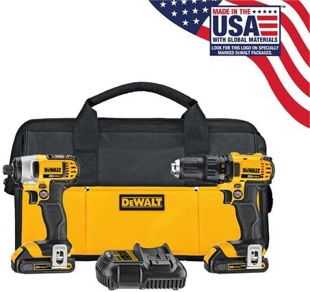 DEWALT 20V MAX Impact Driver and Drill Combo Kit DCK280C2