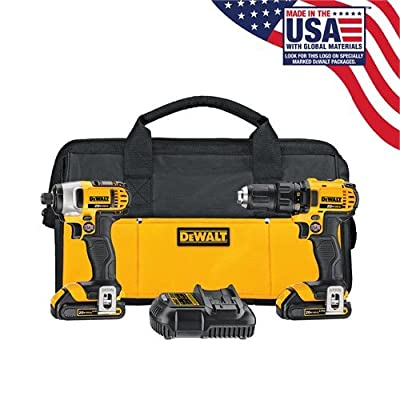 Image of DEWALT 20V MAX Impact Driver and Drill Combo Kit (DCK280C2) Home Improvements