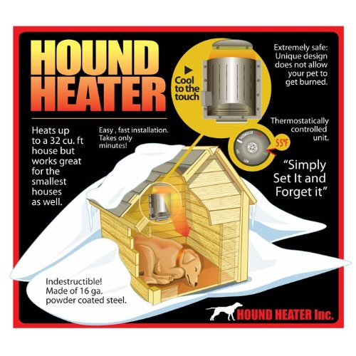 Akoma Heat-N-Breeze Dog House Heater and Fan Black 10
