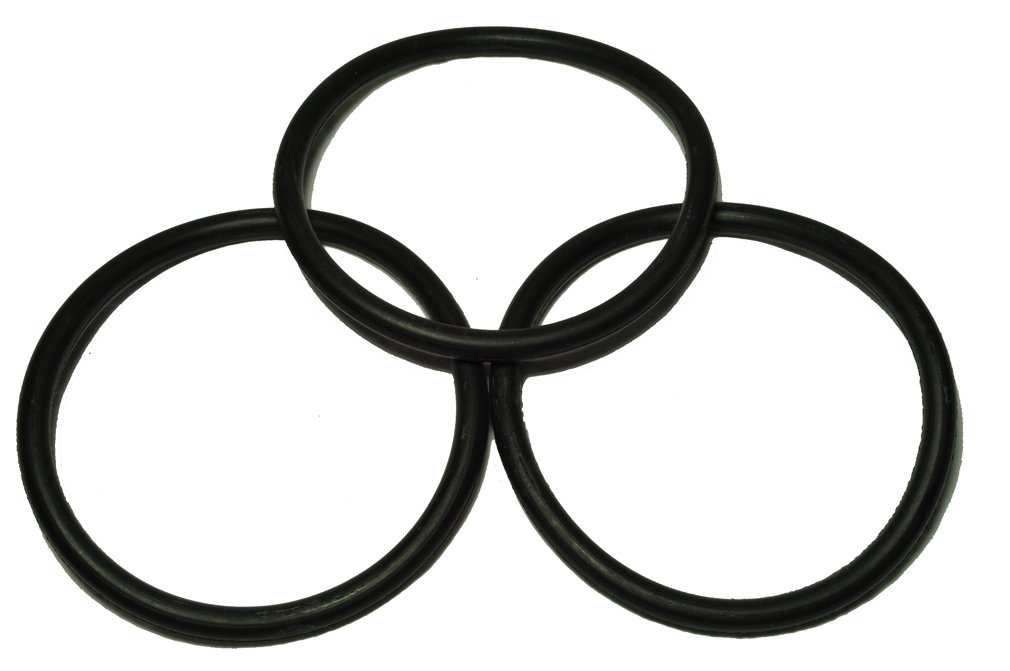 Eureka Upright Round Vacuum Cleaner Belt, designed to fit 1400 Series and all Eureka Uprights where the belt rides in the center of the brushroll, 3 belts in pack