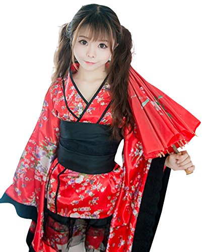 K-shop Women's Japanese Anime Kimono Costume Fancy Dress (M, (Costumes Anime)