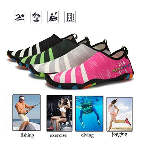 Men Beach Dry Quick for Women Shoes Aqua Water Shoes Socks Slip On Pool Yoga ASLISA River Swim Shoes Pink Barefoot dISXdx