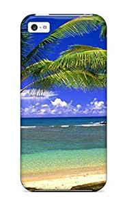 For Art Marie Johnson Iphone Protective Case, High Quality For Iphone 5c Attractive Palms Beach Landscape Beach Skin Case CoverKimberly Kurzendoerfer