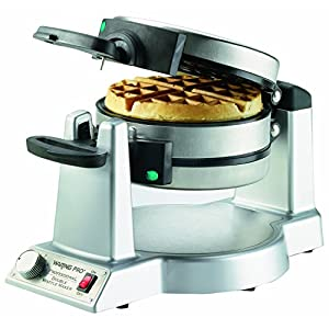 Waring WMK600FR refurbished Double Belgian Waffle Maker – Makes perfect waffles fast and easy