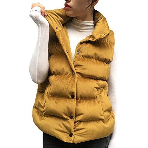 道路を作るプロセスライド交換Fashion maker(F&M)ベスト レディース 中綿ベスト 袖なし 立ち襟 軽量 ポケット付き 無地 防寒 暖かい ベルベット カジュアル シンプル ノースリーブ 通勤 通学 大きいサイズ 全5色