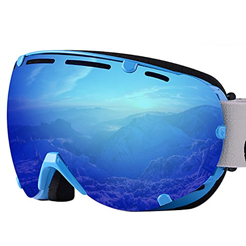 Oversize Frameless Ski Goggles Snowboarding Snowmobiling Anti Fogging Double Layer Lens Ultra-light Mirror Goggles - Goggles Clearance Ski Polarized