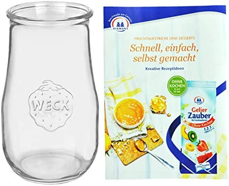 Weck Cristal tulipán 2700 ml), 2,5L Cristal Incluye gelier mágica ...