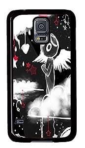 cheap Samsung S5 cover Angelic PC Black Custom Samsung Galaxy S5 Case Cover