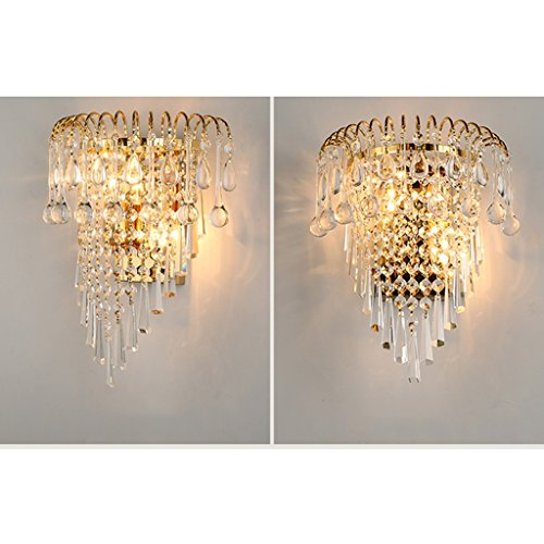 MILUCE Luxury k9 crystal wall lamp European creative living room lights gold led bedside lamps by MILUCE (Image #3)