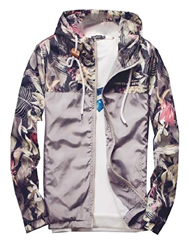 Gery Slim Mimetica Sicurezza Cappotto Giacca Bomber Fit Mens Floreale TRwwUWX8O