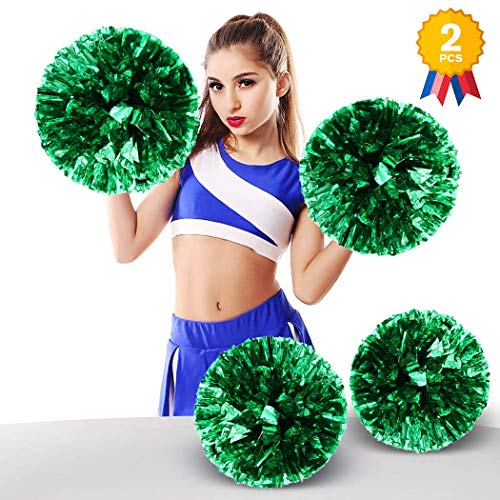 ANALAN 21 Colors Pack of 2 Foil Plastic Metallic Cheerleading Pom Poms for Cheer Sport Kids Adults from ANALAN