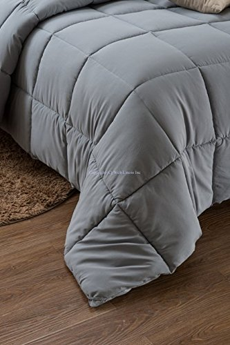 Super Oversized - Down Alternative Comforter - Fits Pillow Top Beds - Queen 92'' x 96'' - Gray - Exclusively by BlowOut Bedding RN #142035 by Web Linens Inc (Image #4)