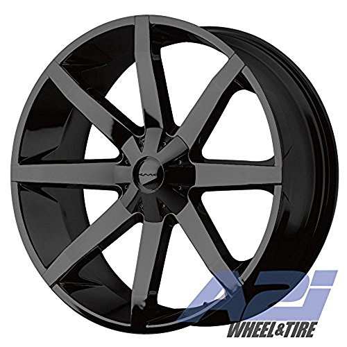 KMC Wheels KM651 Slide Gloss Black with Clearcoat Wheel with Painted Finish (26.00x10.00
