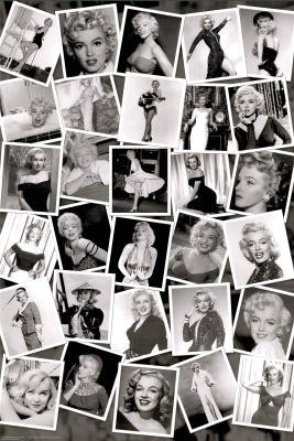 Marilyn Monroe Black & White Collage Movie Poster Print