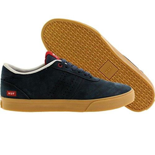 HUF Men's Galaxy Skateboarding Shoe, Dark Navy/Gum, 7 M US