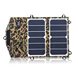 SUNKINGDOM™ 13W Solar Charger High Efficient Portable Folding Solar Panel Charger Compatible with Samsung Galaxy Phones,Camera,Gopro Cameras and any other 5V USB Device (Camouflage)