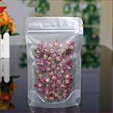 """30 Pieces 22x32cm (8.7""""x12.6"""") Matte Clear Plastic Valve Bags for Food Long Term Storage Frosted Resealable PolyBag Stand Up Zip Lock Pouches"""