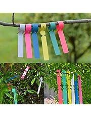 KSS - Marcadores para plantas de colores, 120 unidades, impermeables, para guardería, jardín, para colgar en el árbol, para plantas, jardinería, 6 colores, 20 x 2 cm
