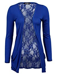 78S Womens Floral Lace Back Ladies Long Boyfriend Summer Cardigan