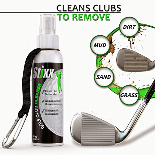 STIXX Golf #1 Golf Club & Grip Cleaner and 3-in-1 Heavy Duty Golf Brush & Groove Cleaner Kit. 2 Great Products Easily Attach to Your Golf Bag. Great gift for Golfers! by STIXX Golf (Image #1)