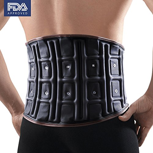 Wissmiss Lumbar Lower Back Brace Belt,Steel Late, Airbag Double Fixed,Inflatable Design, Support Lumbar Spine, Anytime, Anywhere Available,Effectively Relieve Waist Pain,