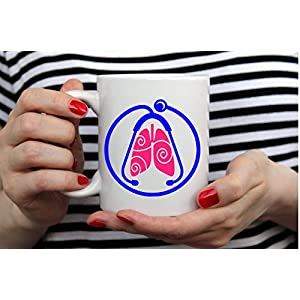 Personalized Respiratory Therapy RT Lungs Stethoscope Decal for Mobile Yeti RTIC Ozark Tumblers Cups